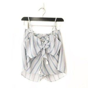 LF SEEK Blue and White Striped Two Piece Set Small